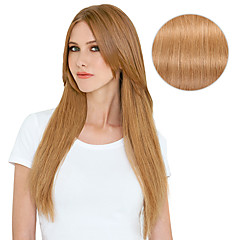 cheap Hair Extensions-Clip In Human Hair Extensions Straight Human Hair Human Hair Extensions Women's Strawberry Blonde