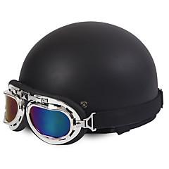 반 얼굴 오토바이 헬멧 할리 스타일 유연한 복근 거리 오토바이 헬멧 매트 블랙 색상