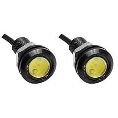 2adet 23mm beyaz renkli kartal göz hafif araba sis drl gündüz yedekleme park sinyal lambası lc12v sıcak satış