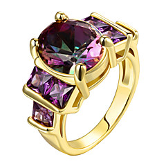 Women's Statement Rings Ring AAA Cubic Zirconia Euramerican Luxury Costume Jewelry Fashion Personalized Sterling Silver Zircon Gold