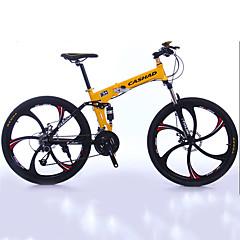 billige Sykler-Foldesykkel Fjellsykkel Sykling 27 Trinn 26 tommer (ca. 66cm)/700CC Shimano Dobbel skivebremse Dempegaffel Foldbar Vanlig Aluminium
