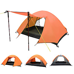 2 personer Telt Dobbelt camping Tent Ett Rom Brette Telt Vanntett Bærbar Vindtett Regn-sikker Anti-Insekt Pusteevne Komprimering Myggvern