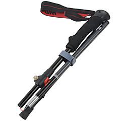 4 노르딕 워킹 스틱 130cm (51 인치) 제동 접이식 가벼운 무게 조절 가능한 핏 알루미늄 합금 7075 캠핑&등산 스노우 슈즈 여행