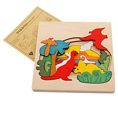 billiga Leksaker och spel-Muwanzi Pussel Träpussel Dinosaurie Djur Trä Tecknat Pojkar Flickor Leksaker Present