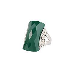 זול טבעות-בגדי ריקוד נשים טבעת אופנתי Euramerican יהלום מדומה סגסוגת ברבור תכשיטים ל חתונה יום הולדת קזו'אל