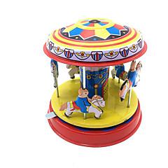 Opwindspeelgoed Speeltjes Cilindrisch Paard Carrousel Metaal 1 Stuks Kinderen Geschenk