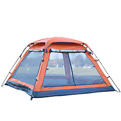 billige Telt og ly-3-4 personer Skjermhus Telt Enkelt camping Tent Ett Rom Automatisk Telt Ultraviolet Motstandsdyktig Regn-sikker til Camping Reise CM