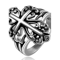 Herre Ring Smykker Enkelt design Unikt design Geometrisk Venskap søt stil Euro-Amerikansk Tyrkisk Gotisk Enkel Stil kostyme smykker