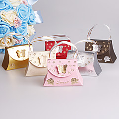 25pcs Handbag Wedding Favors Box Butterfly Candy Box Wedding Party Decoration
