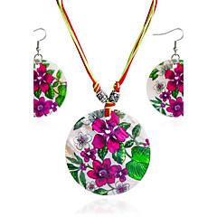baratos Conjuntos de Bijuteria-Mulheres Conjunto de jóias - Estilo simples Incluir Sets nupcial Jóias Vermelho Rosa Para Presente Diário Casual
