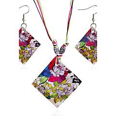 baratos Conjuntos de Bijuteria-Mulheres Conjunto de jóias - Concha Boêmio, Boho Incluir Sets nupcial Jóias Arco-íris Para Presente / Diário / Casual