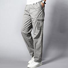 Męskie Rozmiar plus Prosta Luźna Spodnie dresowe Typu Chino Spodnie - Patchwork, Jendolity kolor
