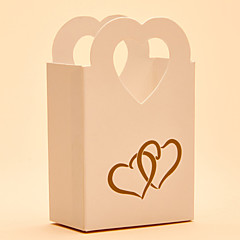 cheap Favor Holders-Round Square Heart Card Paper Favor Holder with Printing Favor Boxes Gift Boxes Candy Jars and Bottles - 25
