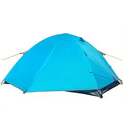 billige Telt og ly-2 personer Telt Dobbelt camping Tent Ett Rom Turtelt Fukt-sikker Vanntett Regn-sikker til Camping Reise Utendørs Innendørs 2000-3000 mm CM