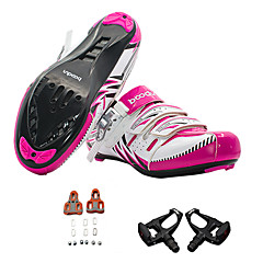 公路 Cycling Shoes With Pedal & Cleat Women's Cycling Nondeformable Sport Sports Outdoor clothing Buckle Nylon Polyester PVC RubberRoad