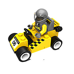 billiga Leksaker och spel-JIE STAR Byggklossar 35 pcs Racerbil Kreativ / GDS (Gör det själv) Unisex Present