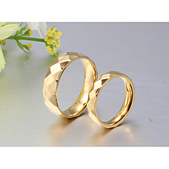 cheap Rings-Couple's 18K Gold Couple Rings / Band Ring / Ring - Round Classic / Simple Style / Elegant Gold Ring For Wedding / Party / Anniversary