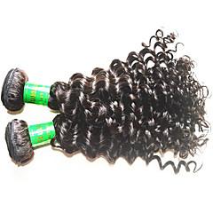 billige Remy fletninger af menneskehår-Menneskehår Remy fletninger af menneskehår Dyb Bølge Indisk hår 300 g