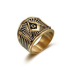 Ring Euramerican Klassiek Roestvast staal Sieraden Voor Feest Speciale gelegenheden Kerstcadeaus 1 st.