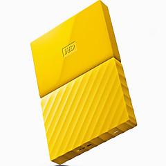 Wd novo meu passaporte 4tb 2,5 polegadas novo disco rígido móvel amarelo wdbyft0040byl-cesn