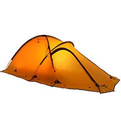 2 personer Telt Dobbelt camping Tent Ett Rom Turtelt Fukt-sikker Vanntett Regn-sikker Revner ikke til Camping Reise Utendørs Innendørs