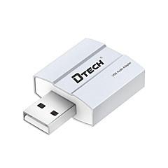 Dtech dt-6006 внешняя звуковая карта бесплатный привод 5.1 конвертер стереофонического звука для наушников
