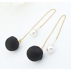 女性用 スタッドピアス ドロップイヤリング フープピアス 人造真珠 ベーシック ユニーク ロゴデザイン 真珠 友情 トルコ語 ファッション ゴシック ビンテージ アフリカ ボヘミアスタイル シンプルなスタイル パンクスタイル アメリカ 愛らしいです ブリティッシュ あり