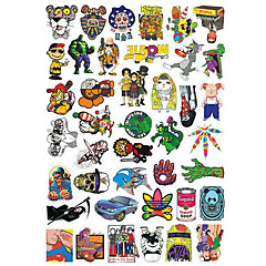 cheap Scooters, Skateboarding & Rollers-Stickers & Decals / Skateboard Sticker 20.0*18.0*0.5 cm cm Trainer for Skateboards Plastic 50 pack