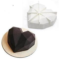 billige Bakeredskap-Bakeware verktøy Silikon Non-Stick Ferie 3D Kake Sjokolade Bakeform 1pc