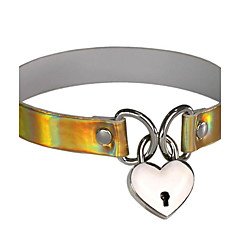 cheap Necklaces-Men's Women's Heart Leather Choker Necklace Collar Necklace - Personalized Dangling Style Pendant Vintage Bohemian Sexy Hip-Hop Fashion