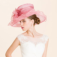 cheap Party Hats-Organza Hats Headpiece Wedding Party Elegant Classical Feminine Style