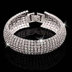 Women's Bracelet/Bangle Tennis Bracelet Crystal Cuff Luxury Basic Elegant Imitation Diamond Alloy Jewelry For Party / Evening Daily