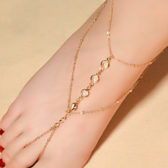 cheap Body Jewelry-Women's Anklet / Bracelet Crystal Fashion Barefoot Sandals Drop Jewelry For Daily Casual