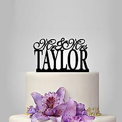 billige Kakedekorasjoner-Kakepynt Klassisk Tema Bryllup Plast Bryllup med 1 Polyester Veske