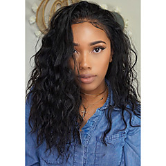 cheap Wigs & Hair Pieces-100 human hair lace wigs pre plucked wigs brazilian water wave lace wig natural black glueless wavy full lace wigs with baby hair for black women