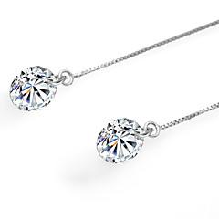 Damla Küpeler Som Gümüş Mücevher Mücevher Için Doğumgünü Günlük 1 çift