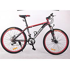 billige Sykler-Fjellsykkel Sykling 21 Trinn 26 tommer (ca. 66cm)/700CC BB8 Dobbel skivebremse Dempegaffel Sykkelramme Uten Bak Fjær Anti-Skli