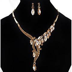 Γυναικεία Κρεμαστά Σκουλαρίκια Κρεμαστά Κολιέ Στρας απομίμηση διαμαντιώνΒασικό Μοναδικό Κρεμαστό Στρας Φιλία ταινία Κοσμήματα κοσμήματα