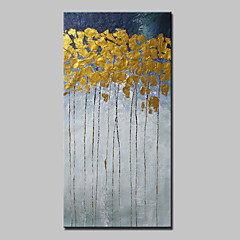 billiga Oljemålningar-Hang målad oljemålning HANDMÅLAD - Abstrakt Abstrakt / Moderna Utan innerram / Valsad duk
