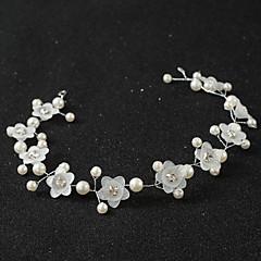 真珠 アクリル かぶと-結婚式 パーティー ヘッドバンド ヘッドチェーン 1個