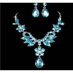 cheap -Women's Jewelry Set Rhinestone Pendant Wedding Party Special Occasion Anniversary Birthday Rhinestone Alloy Flower