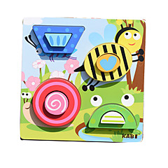 preiswerte Babyspielzeug-Spielzeug-Autos Bausteine Holzpuzzle Steckpuzzles Bildungsspielsachen Tiere Quadratisch Kinder Geschenk