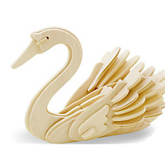 cheap -3D Puzzle Jigsaw Puzzle Wood Model Dinosaur Plane / Aircraft Swan DIY Wooden Wood Classic Kid's Unisex Gift