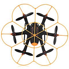 billige Fjernstyrte quadcoptere og multirotorer-RC Drone WL Toys Q383-C 4 Kanaler 6 Akse 2.4G Med 720 P HD-kamera Fjernstyrt quadkopter LED-belysning Feilsikker Flyvning Med 360 Graders