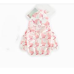 billige Babyoverdele-Baby Pige Bluse Ensfarvet Folder Grøn Hvid Lyserød Grå