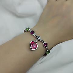 Women's Chain Bracelet Fashion Alloy Heart Jewelry For Wedding Party Anniversary Birthday Valentine 1 pc