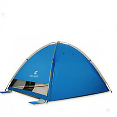 billige Telt og ly-3-4 personer Camping Pute Strandtelt Enkelt camping Tent Brette Telt Ultraviolet Motstandsdyktig til Camping & Fjellvandring Andre