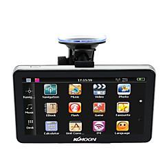 Kkmoon 7 draagbare hd scherm gps navigator 128mb ram 4gb rom mp3 fm video speel auto entertainment systeem met achterkant ondersteuning