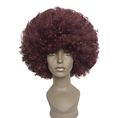 cheap Wigs & Hair Pieces-capless afro short wig kinky curly synthetic halloween clown costume wig Halloween