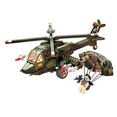 voordelige -Bouwblokken / Blokken minifiguren / Modelbouwsets Tank / Vliegtuig / Helikopter Helikopter Unisex Geschenk